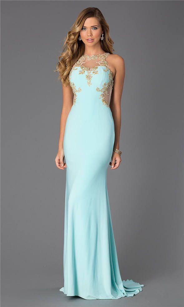 26 best aqua prom dresses 2015 images on Pinterest | Aqua prom dress ...