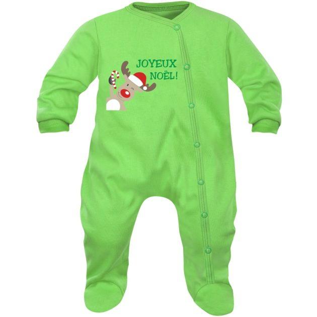 Pyjama bébé Noël : JOYEUX NOËL (8 couleurs)