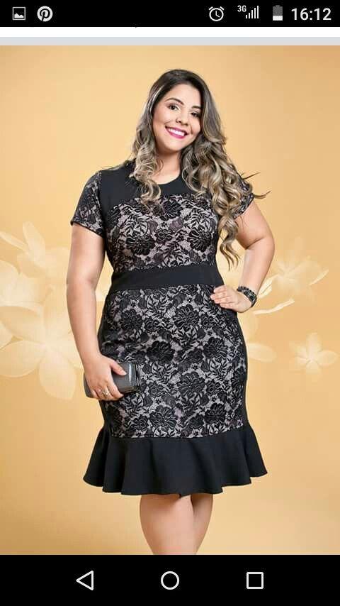 Vestido preto floral