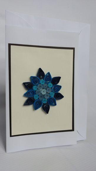 Cartão mandala azul