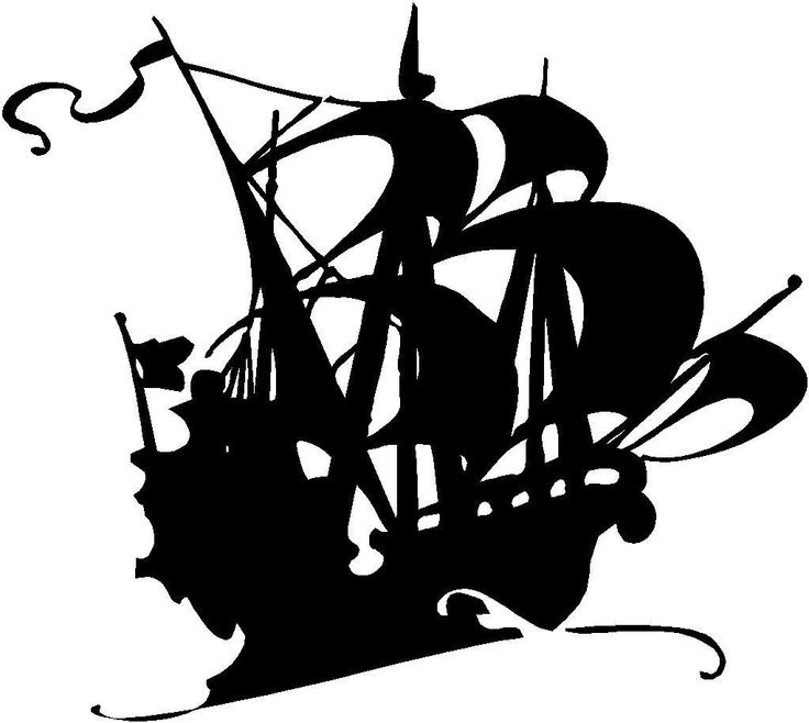 Pirate ghost ship vinyl decal