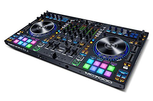Denon DJ MC7000 | Premium 4-Channel DJ Controller & Mixer with Dual USB Audio Interfaces and full Serato DJ download | Dj Mixers And Controllers