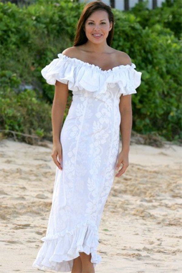 Dresses, Hawaiian Wedding Dresses With Sleeves: Casual Hawaiian Wedding Dresses
