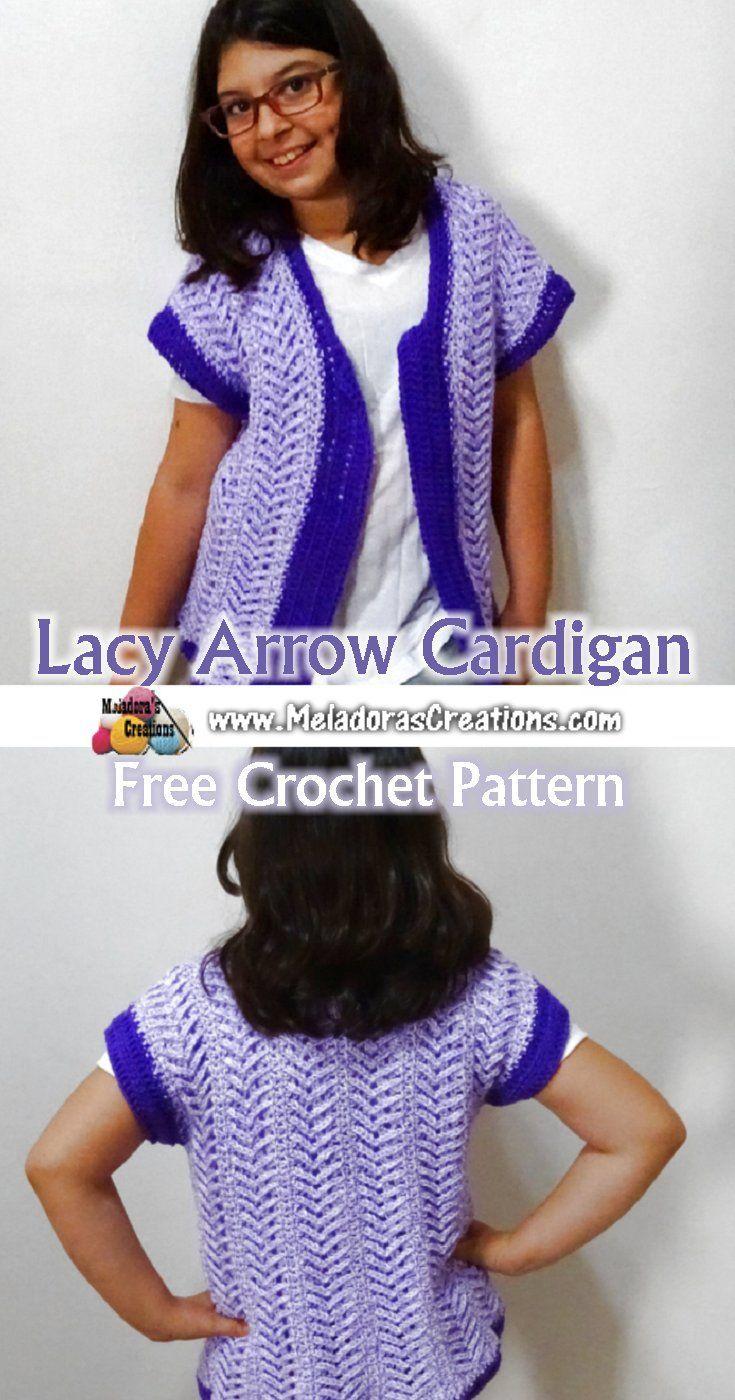 Lacy Arrow Cardigan – Free Crochet Pattern | start to crochet ...