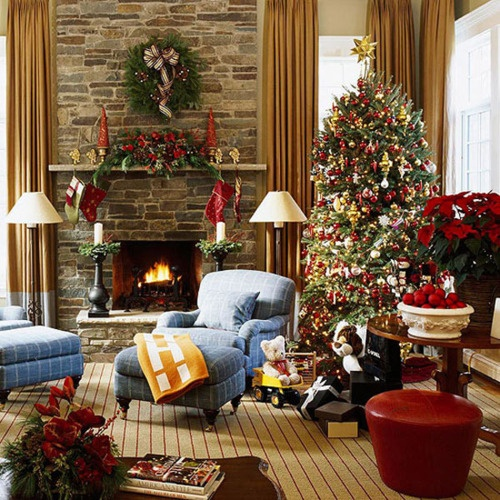 traditional Christmas decor: celebrating Christ's birth is a big deal :).