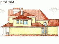 Проекты домов с зимним садом № W-279-1K - вид слева