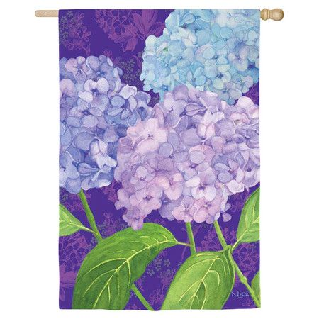 Refresh your garden or mulch bed with this floral flag, the perfect way to spruce up your outdoor decor.   Product: Garden flag