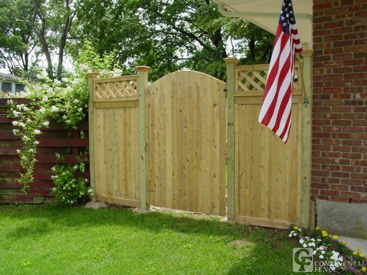 Stockade Fence Gate Pergola Google Search Landscaping Backyard Fences Garden