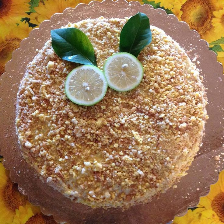 Un assaggio... dei nostri dolci: torta con crema di limone!