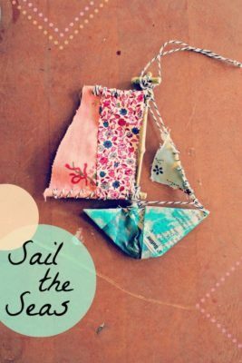 Paper Ship Ornament