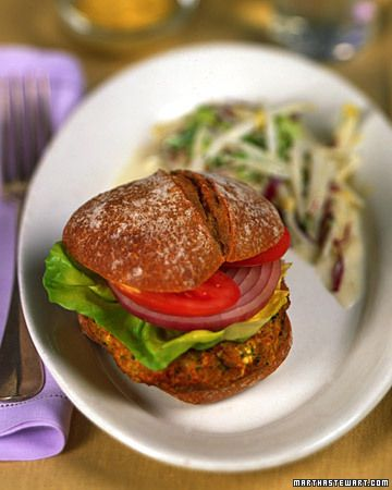 Craving a better veggie burger? Try this Sweet Potato Tofu Burger, which
