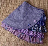 Stunning ruffle side skirt