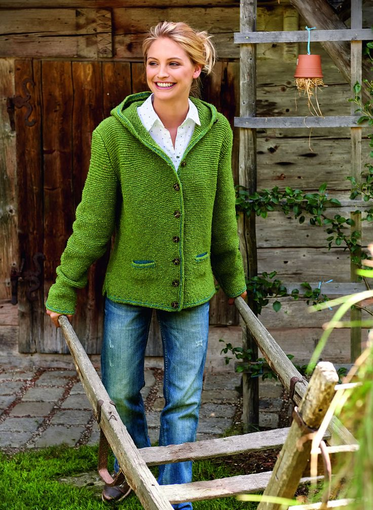 Lana Grossa DAMEN-KAPUZENJACKE Royal Tweed/Merino Air