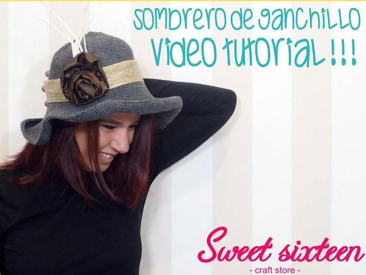 Prepara tus agujas de ganchillo para hacer este bonito sombrero. ¡Están de moda!