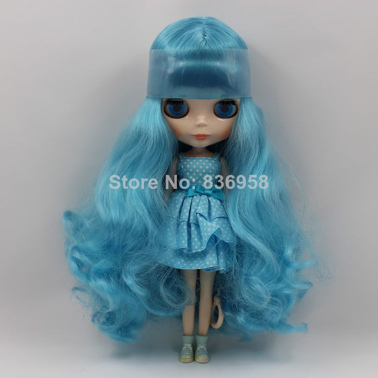 Light Blue With Four Hair Style Nude Blythe Doll Girls Birthday Gifts $64.80