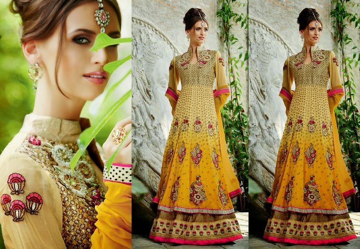 Fashion: Wonderful Floor Length Dresses and Anarkali Lehenga Collections 2014