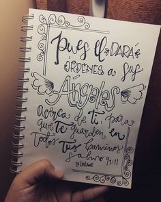 Día #8 - Salmo 91:11 -  En sus promesas encontramos una y otra vez como nos recuerda que tiene siempre cuidado de sus hijos! -Tierra del Fuego, Ushuaia, Argentina - ❄⛄⛅ -  #LetteringBíblicoSeptiembre #ConfiandoEnSusPromesas #yopintomibiblia #letteringconpropósito #handlettering #typography #handletter #lettering #LetteringBeginner #handmade #watercolour #caligritype #journaling #BibleJournaling #brushlettering #biblejournalingenespañol