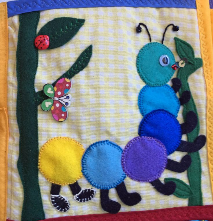 Quiet Book - Caterpillar - colorful, fun and easy.
