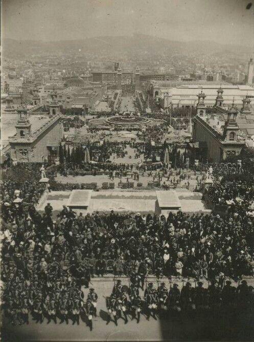 Inauguració de l'exposició Internacional de Barcelona al 1929