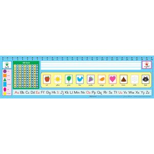 Zaner-Bloser 100 Grid With Number Line Self-Adhesive Vinyl Desktop Helpers™ - Set Of 30