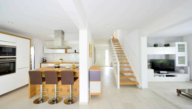 Kitchen, Green Lighting, Contemporary Loft Apartment In Stockholm ...