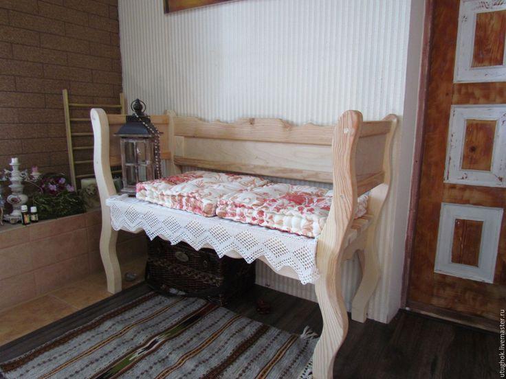 Купить Деревянный бамбеттель, диван, софа - диван, диванчик, деревянный, Мебель, гостиная, интерьер, прованс
