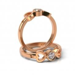 Inel de logodna Charles cu diamant din aur roz