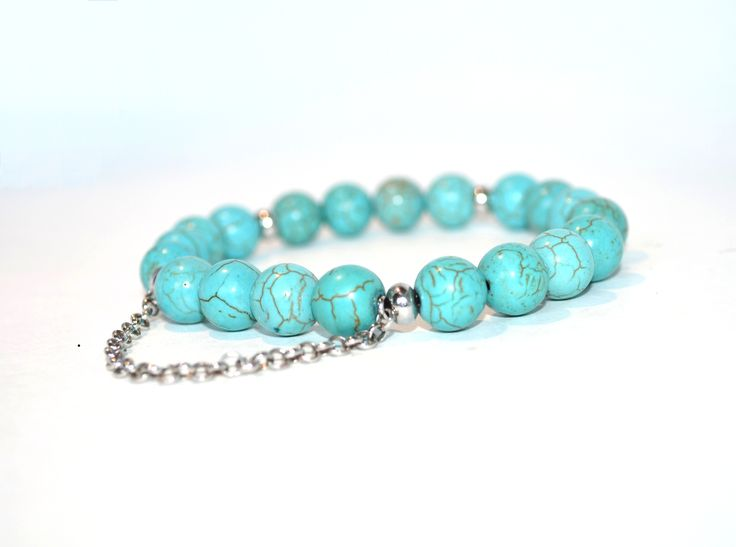 Stockholm- Turquoise Dyed Howlite