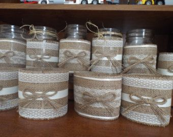 Mason Jar Mason jar sleeves burlap sleeves di ForeverHitched