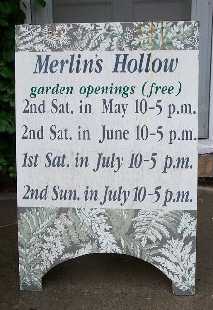 Merlin's Hollow, Aurora Ontario, a garden made by someone I used to know.