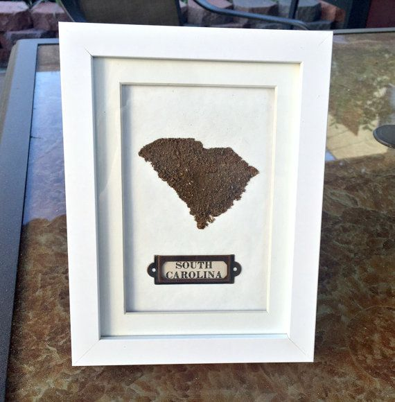 Made from South Carolina dirt so you can always have a piece of home when you're homesick. Great for moving away too.