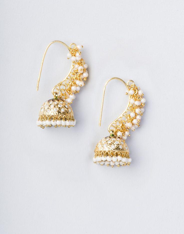 Metal Anusuya EM 339 Jhumka Earrings