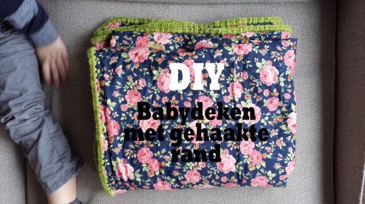 Eenvoudige babydeken met gehaakte rand. Je hebt geen naaimachine nodig om van een saaie fleece-deken en een fleurige lap stof een fijne babydeken te maken.
