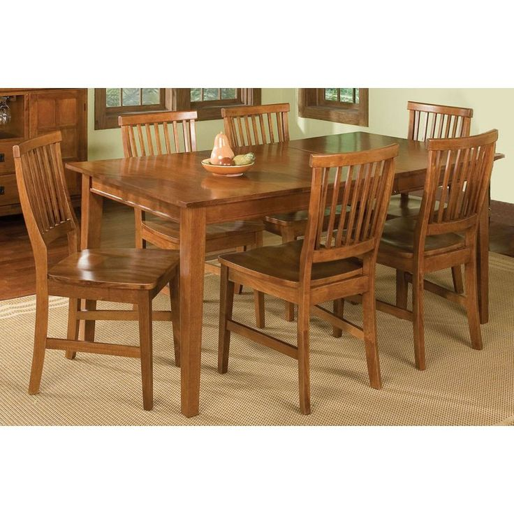 Home Styles Arts & Crafts 7 Piece Dining Set - Cottage Oak - 5180-319