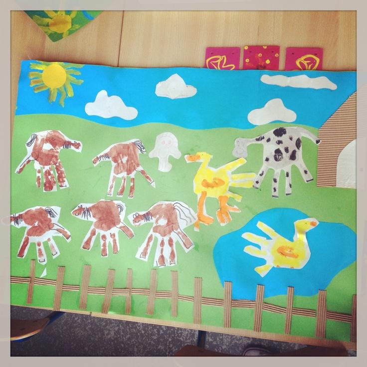 Thema boerderij :handafdruk