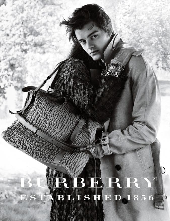 Sam Riley Burberry Prorsum Fall 2008 campaign