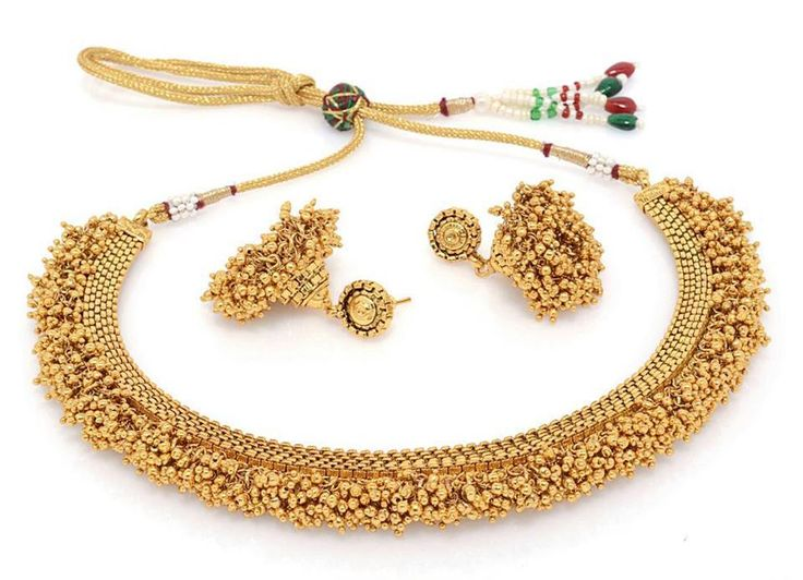 BFC - Traditional and Ethnic One Gram Gold Plated Necklace Set with jhumka. Necklace, Ht: 10 cms, Wd: 10 cms, Wt: 32 gms Earrings, Ht: 5.3 cms, Wd: 3.1 cms, Wt: 22 gms OFFER Price INR 2499/-COD Original Priced INR 3999/- Product Code: NS-201316-196-NW Free Shipping n COD in India, International Shipping Available. To Order: Pls. forward your complete postal address with landmark, mobile no. or sms/whatsapp me on +917715079167. Neelam.