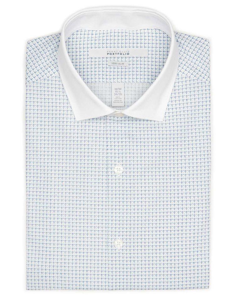 #FashionVault #perry ellis #Men #Tops - Check this : Perry Ellis Very Slim Tiny Diamond Dress Shirt for $34.99 USD