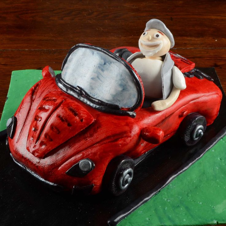 The Cake Artists - Red Ferrari Cake with fondant figure