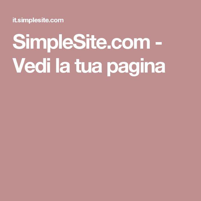 SimpleSite.com - Vedi la tua pagina