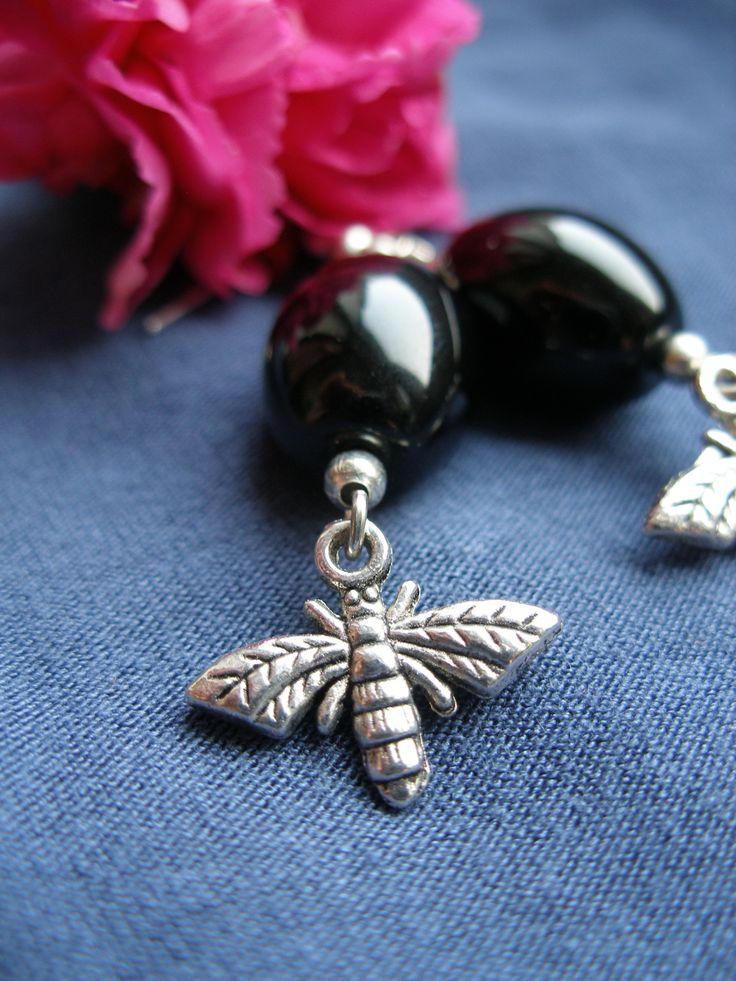 Black fly - DIY jewellery earrings
