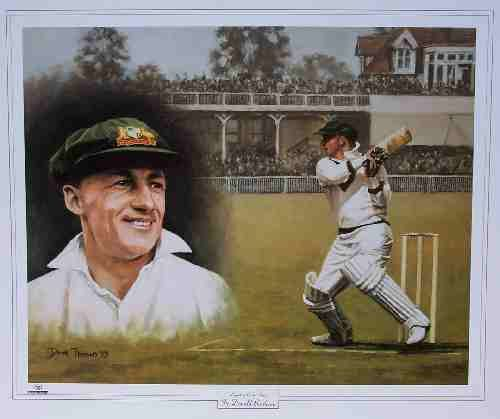 Sir Don Bradman, Famous Australian cricketer and batsman.