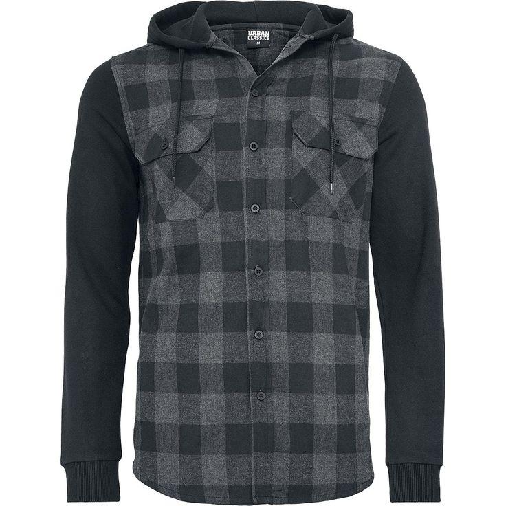 Urban Classics Flanellskjorta »Hooded Checked Flanell Sweat Sleeve Shirt« | Köp i EMP | Mer Basplagg Flanellskjortor finns online ✓ Oslagbara priser!