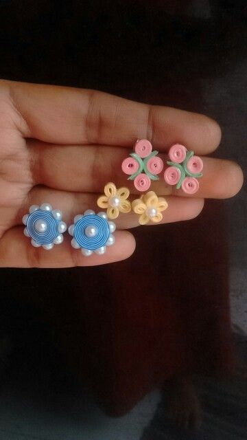 Quilled fancy studs