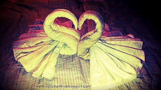 Matka Puchatka: Origami z ręczników krok po kroku - jak zrobić łab...