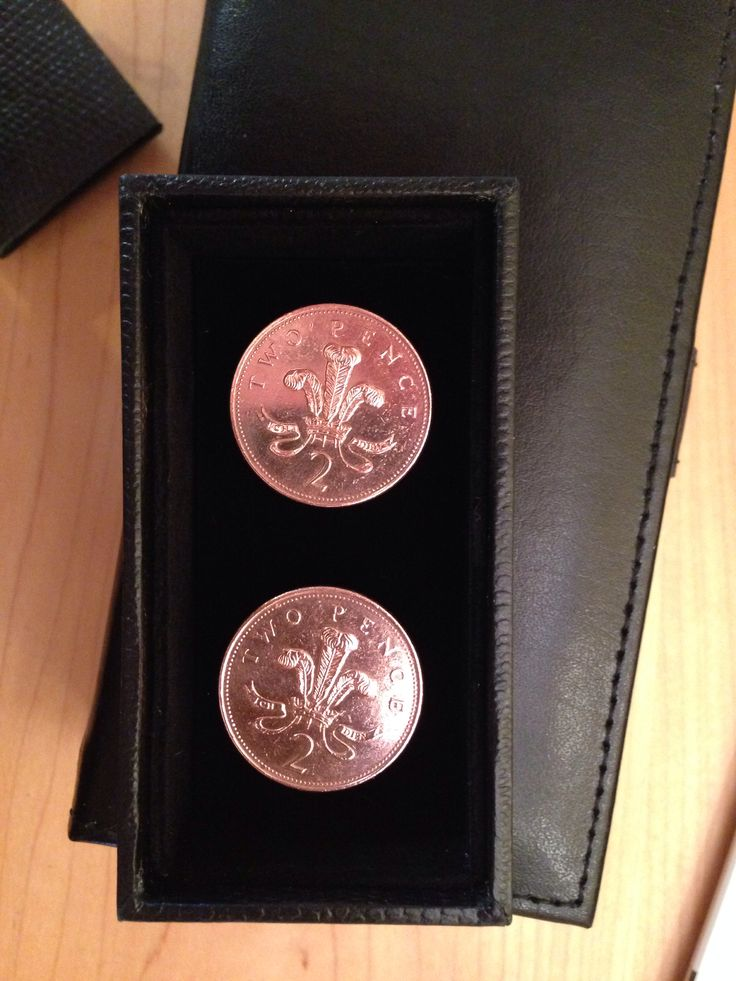 British pence... Copper back cufflinks