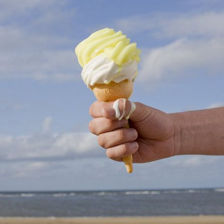 """Photography by Peter Marlow. """"Lemon-top"""" ice cream."""