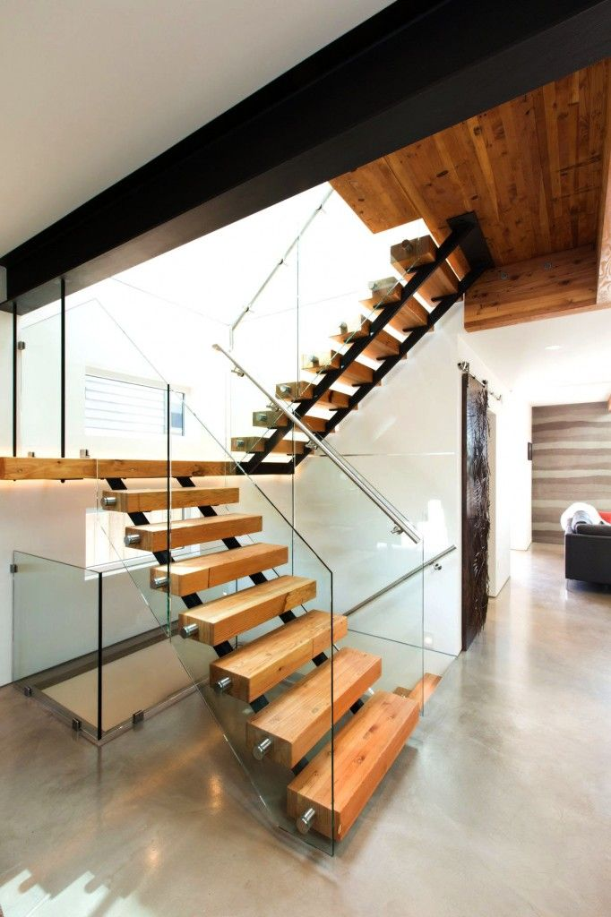 Contemporary 18 Best  Green  Home Design For A Future Luxurious Residential staircase