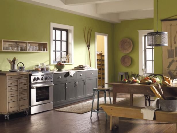 Painting Kitchen Cabinets Green