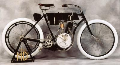 The Early Harley-Davidson Motorcycle.         Circa 1904